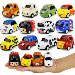 Wholesale Children Mini Train - New cartoon children toy car warrior alloy models Mini Q iron Diecast Model Cars Figure size