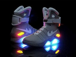 Wholesale Mag Shoes - Fashion Air Mag Men Limited Edition Back To The Future Top McFly Sneakers Mags Ankle Boots With LED Lights Luxury Outdoor Shoes