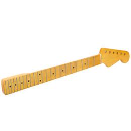 Wholesale Electric Guitar Neck Part - 22 Frets Replacement Guitar Neck Maple Neck Fingerboard for Electric Guitar High Quality Guitar Parts & Accessories