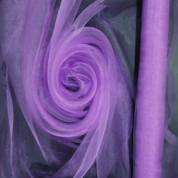 Wholesale Organza Wedding Background Decoration - Big Sale!!! High Quality Violet Organza- ORGANZA For Background Of Wedding Decoration,1.5 M x110 Meters Roll, Factory Price