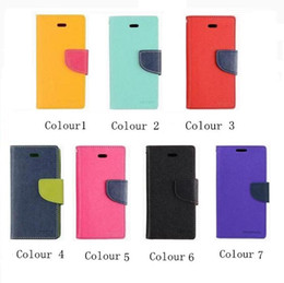 Wholesale iphone 5c folio - 2016 Mercury Wallet leather TPU Hybrid Soft Case Folio Flip Cover for iPhone 4 4s 5 5s SE 5c 6 6s Iphone 7 7 Plus Free shipping