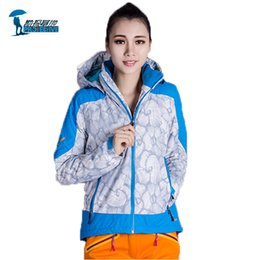Wholesale Thermal Suits For Winter - Wholesale-Protective Brand 2016 Outdoor Sports Ski Suit Women Thicken Winter Softshell Jacket Thermal Windstopper Skiing Suit For Women