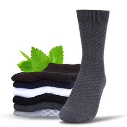 Wholesale Bamboo Ankle Sock - New Arrival Men's bamboo fiber socks Solid Color Classic Business Men's Sock Brand Casual Mens Socks E631