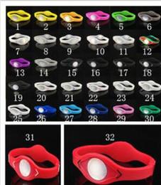 Wholesale Balance Power Bands - DHL 33 Colors 5 Sizes XS S M L XL silicone bracelets Basketball Sports Wristband Power Bands Balance Health Energy Silicone Bracelet.