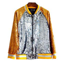 Argentina Nueva moda de color de las lentejuelas chaqueta de béisbol Béisbol amarillo plata moda señoras prendas de vestir exteriores venta caliente supplier yellow ladies jacket Suministro