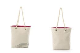Wholesale Phone Carriers - women bag canvas leisure tote bag print fish shopping carrier bag single shoulder rope totes handbag