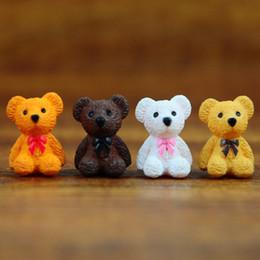 Nuovo 4 disegni mini cartoon orsi animali fairy garden miniature gnomes moss terrari in resina artigianato figurine per fai da te decorazione del giardino da