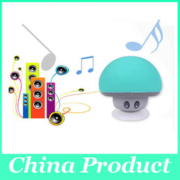 Wholesale Bluetooth Device Computer - Mushroom Mini Wireless Bluetooth Speaker Waterproof Silicone Sucker Hands Free Speakers For Android Devices PC Computer S7 saumsung 010279