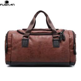 Wholesale Large Shoulder Strap Bags - Wholesale- New Genuine leather travel bag Men duffel bag large capacity bags with shoulder Strap shoulder bag leahter Handbag for Male