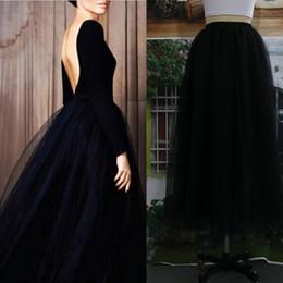 Wholesale Tulle Seller - Wholesale-2016 New Fashion Hot Seller Long Woman Tulle Skirt Tutu Female Skirt Ball Gown For Woman All The Season High Quality Tulle Skirt