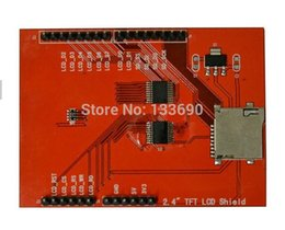 """Wholesale Lcd Display Arduino Uno - Wholesale-2pcs 2.4"""" inch TFT LCD Shield + Touch Panel Display with TF Reader for Arduino UNO R3"""