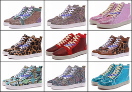 Wholesale Glitter Shoes For Cheap - Cheap Rantus Mens Flat Glitter Flats Red Bottom Luxury Shoes For Bip Bip Orlato Women Designer Sneakers Famous Brand Party Shoes
