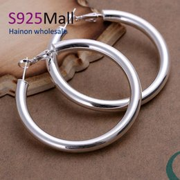 Wholesale Hoop Earring Supplies Wholesale - Wholesale- Jewelry New Arrival Women Round Pendientes Aros Fine Jewelry E149 2016 New Supplies Earrings Fashion High Quality