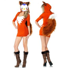Wholesale Animal Cosplay - Wholesale-Wholesale Sexy Halloween Animal Costume Sexy Fox Uniform Temptation Outfit Halloween Fancy Dress Cosplay Party Costume