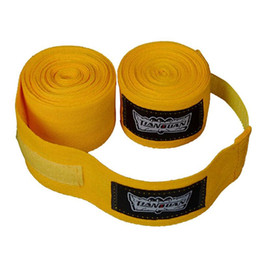 Wholesale Mma Wholesale Fight Gear - 2.6 meters 100% cotton gloves Elastic Bandage Straps Boxing Gloves Sanda Muaythai Bandage MMA Fighting Gloves