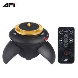 Trípode eléctrico online-AFI MRP01 Mini Electric Panorama Head 360 Rotación Time Lapse Trípode Head para Action Camera para Selfie Stick Smartphones