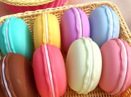 Wholesale Macaron Storage Boxes - Wholesale gifts box Cute Candy Color Macaron Mini Cosmetic Jewelry Storage Box Jewelry Box Pill Case Birthday Gift Display DDH13