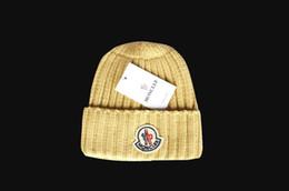 Wholesale Winter Fur Hats For Women - 2017 New Winter Beanies Knitted Wool Warm Hats Fashion Pom Pom Caps Skullies Hat For Men Women Print Fur Cap