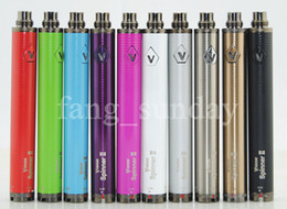 Wholesale Ecig Batteries Twist - eCig Vision 2 Spin II 1650mAh eGo Adjustable Twist 3.3-4.8V VV Battery + USB Charger