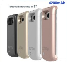 Wholesale Portable Chargers Case Galaxy - Portable External Backup Battery Charger Cover Case Pack for Samsung Galaxy S7 Rechargeable Power Bank Case