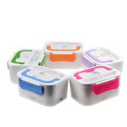 Wholesale Heat Lunch Box - 2017 newest Car Plug Heated Lunch Benton Boxes 12 V Electric Heating Thermal Lunchbox Food Warmer Car Truck Stove Oven