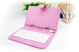 """Wholesale Colorful Keyboard Tablet Covers - Colorful Leather Case USB Keyboard For 10"""" Tablet PC Pad Leather Cover 10 Inch Stand Case for 10 Inch Android Tablets"""