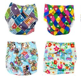 Wholesale Diapers Fasteners - 47designs Swim Diaper 2016 More Patterns Reusable Diaper Printing Diapers Nappy Cover For Baby Reusable Cloth Nappies