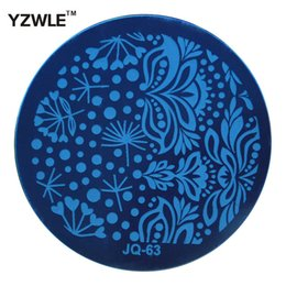 Wholesale Pcs Images - Wholesale- YZWLE 1 Pcs Stamping Nail Art Image Plate, 5.6cm Stainless Steel Nail Stamping Plates Template Manicure Stencil Tools (JQ-63)