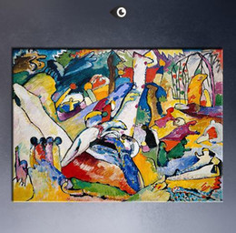 Wholesale Framed Sketch - Sketch for Composition II By WASSILY KANDINSKY,High Quality Genuine Handpainted Abstract Art oil Painting On Canvas customized size