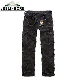 Wholesale Cargo Soft - Wholesale-2016 men's cargo camouflage pants fashion men 7 different color high quality soft cool man pants size 28-40