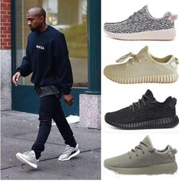 Wholesale Pirate Green - Kanye West 350 Boost Pirate Black Turtle Dove Moonrock Oxford Tan Boost 350 V2 SPLY Running Shoes Grey Orange Stripes Zebra
