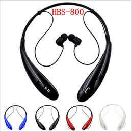 Wholesale Phone Ear Buds - HBS-800 Bluetooth Headset Wireless Earphone Bluetooth Headphone Ear Buds Head Phone Set for iPhone 6 5S 4S Samsung Xiaomi Earbud