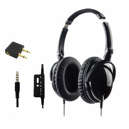 Wholesale headphones active noise - Active Noise Cancelling Headphones High Performance Over Ear With Mic Foldable HD Airline Headset Earphone Auriculares fast free shipping