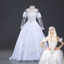 Wholesale Belle Adult Costume - 2017 Brand New Gorgeous Adult White Women Belle Princess Cosplay Dresses Party Clothing