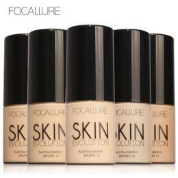 Wholesale foundation bb cream - FOCALLURE Face Makeup Base Face Liquid Foundation 8 Colors BB Cream Concealer Moisturizer Oil-control Waterproof Foundation Primer FA30 DHL