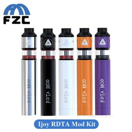 Wholesale Multi Connector Kit - Original Ijoy RDTA Mod Kit 25mm Diameter Mechanical Mod Combo Vaporizer with 510 Threaded Connector PIn 5 Colors