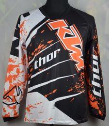Wholesale Motorcycle Wear Brands - Brand-100% polyester KTM motorcycle jersey long sleeve Quick dry motorbike racing wear mens cycling shirts KTM Motocross Jerseys M-XXL