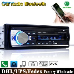 Wholesale Car Aux Mobile - DHL Fedex JSD-520 12V Bluetooth Car Stereo FM Radio MP3 Audio Player 5V Charger USB SD AUX APE FLAC Subwoofer In-Dash 1 DIN