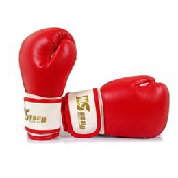 Wholesale Kickboxing Gloves - 1 Pair Gloves Kids Children Kickboxing Kick Fighting Box Training Punching Sandbag Boxing Gloves 1202