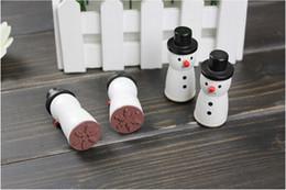 Wholesale Snowman Gifts Make - Cute Wooden Snowman Stamp Snowflake Gift Scrapbooking Card Making Craft DIY