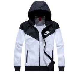 Wholesale Thin Windbreaker Jackets - Fall-Hot ! Men Spring Autumn Thin Jacket Coat,Men and women sports windbreaker jacket explosion Black models Windrunner jacket couple