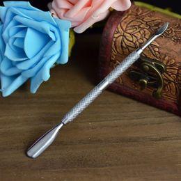 Wholesale Cuticle Pusher Cheap - Cheap Metal Cuticle Pusher Dead Skin Remover Cutter Nipper Clipper Cut Manicure Tool