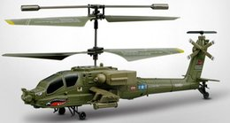 Wholesale Rc Apache - 2017 SYMA S109G Mini 3.5CH RC Helicopter AH-64 Apache Helicopter Gunships Simulation Indoor Radio Remote Control Toys for Gift b667