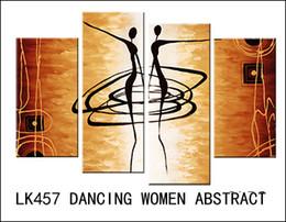 Wholesale Dancing Pictured Canvas - LK457 4 Pcs Set4 Pcs Set Pcs Set Modern Wall Painting Dancing Women Canvas Art Canvas Wall Picture Decoration Home Combined Modern Canvas Oi