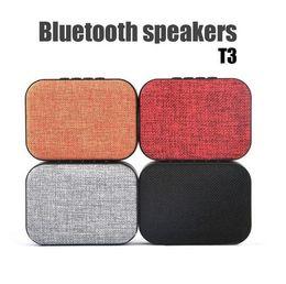 Wholesale Audio Amplifier Receiver - T3 Bluetooth Speaker Portable Mini Woofer Receiver Boombox FM Radio Amplifier