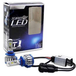 Wholesale H7 Led Kit - 1 Set 9006 9005 T1 LED Headlight Conversion kit 70W 7200LM Cool White 6000k 360 Degree Beam Angle Turbo Fan Car LED Bulb