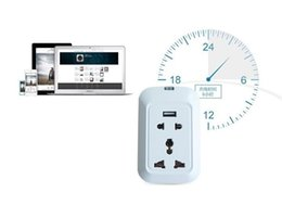 Wholesale Internet Remote - Wi-Fi Smart Wall Socket Remote Controlled Via Internet Android + iOS Supported 3 Ports EU Power Supply new hot