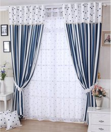 Wholesale Circle Punches - New arrival Circles Striped Curtains for Living Room Kitchen Semi-blackout Curtain Tulle for Window Treatment Endless Cortinas