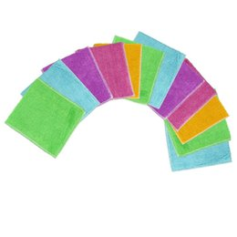 Wholesale Bamboo Fiber Washing Dish Cloth - 12 Pcs New Arrival Kitchen Cleaner wipping rags efficient Bamboo Fiber Cleaning Cloth home washing dish Cloth 13UY