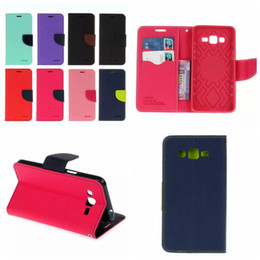 Wholesale Galaxy Core Flip Cover - Style Hybrid Wallet Leather Case For Galaxy Grand Prime G530 Core G360 J120 J1 Mini Flip Soft TPU Cover Card Slot Pouch